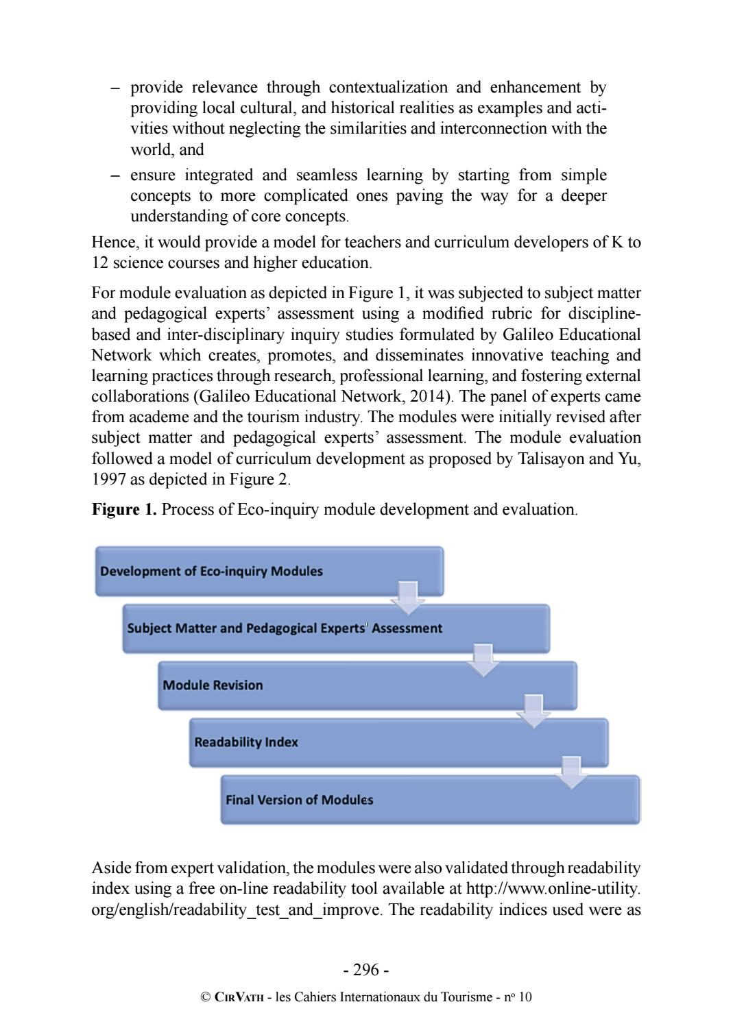 CirVath International Journal of Tourism 10 by Vatel - issuu