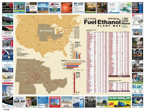 Spring 2018 U S and Canada Fuel Ethanol Plant Map by BBI