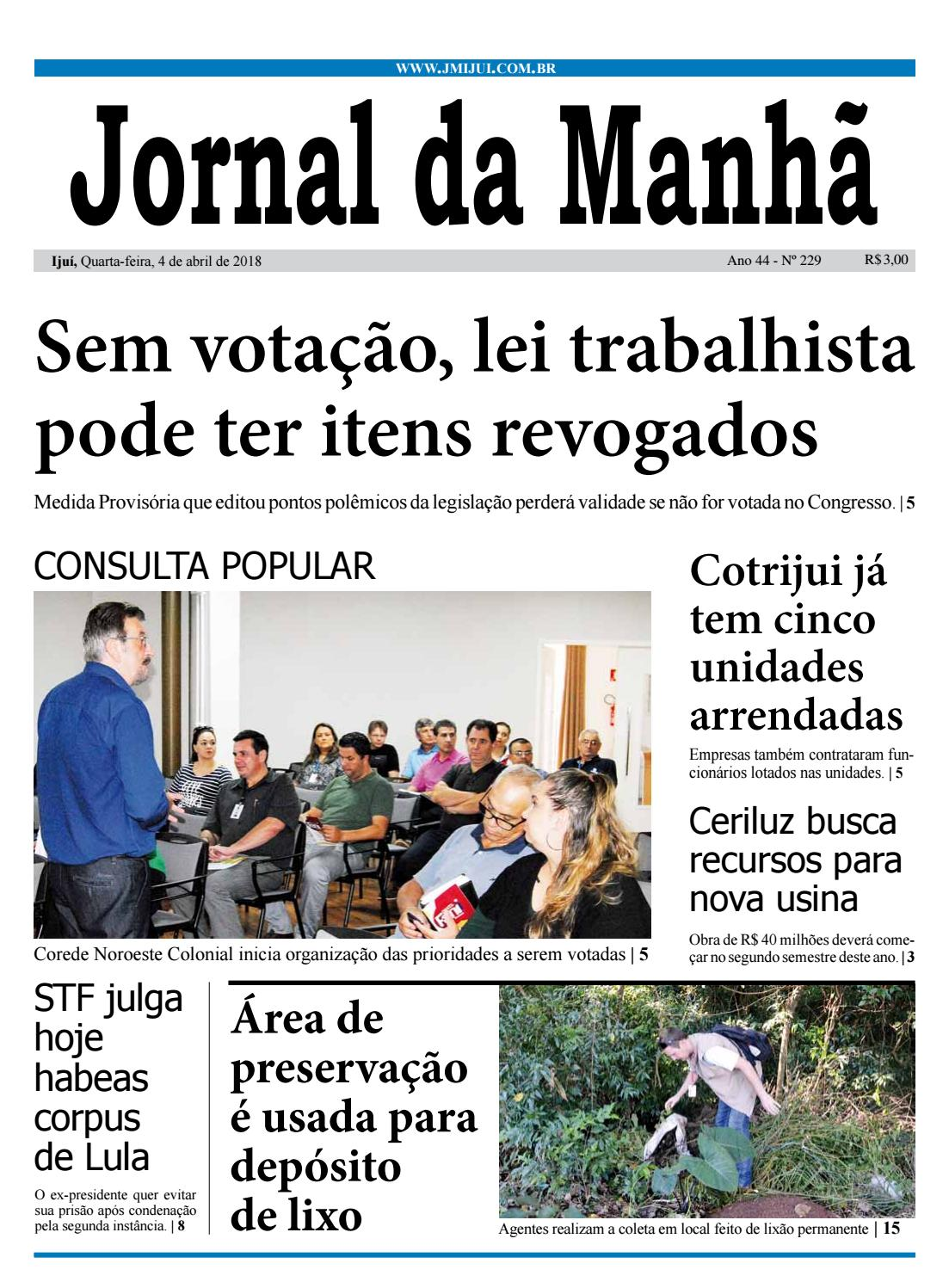 4b4932b68f Jornal da Manhã - Quarta-feira - 04-04-2018 by clicjm - issuu
