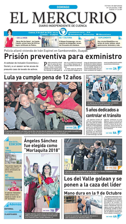 hemeroteca 08-04-2018 by Diario El Mercurio Cuenca - issuu