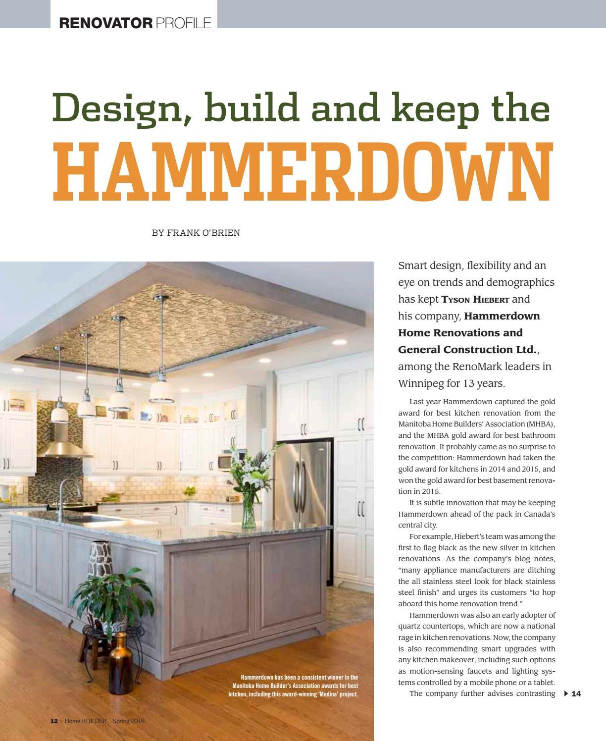 Kitchen Renovation Winnipeg: HomeBuilder Magazine Canada By Work4