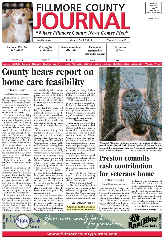 Fillmore County Journal - 4 9 18 by Jason Sethre - issuu