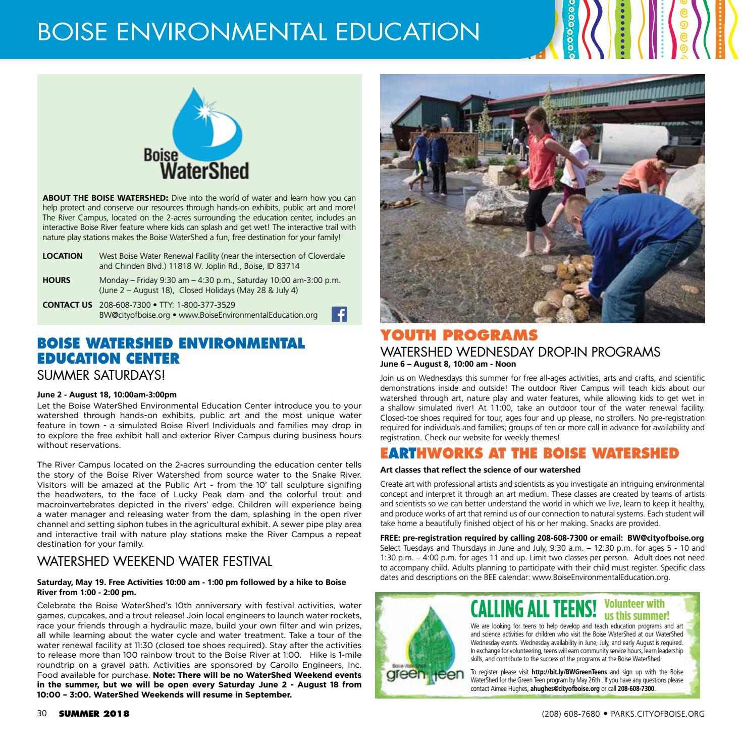 3f0e17f9f6 Boise Parks and Recreation Summer 2018 Activity Guide by Boise Parks ...