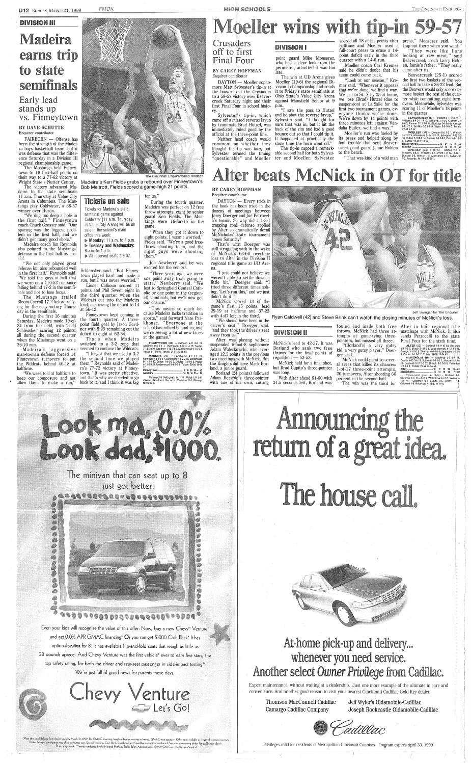 93df22aaa0fa Class of 1999 - Basketball Archives by Archbishop Moeller High School -  issuu