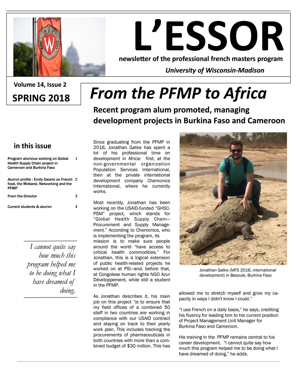 Lessor newsletter of the professional french masters program spring lessor newsletter of the professional french masters program spring 2018 by uw madison professional french masters program issuu solutioingenieria Image collections