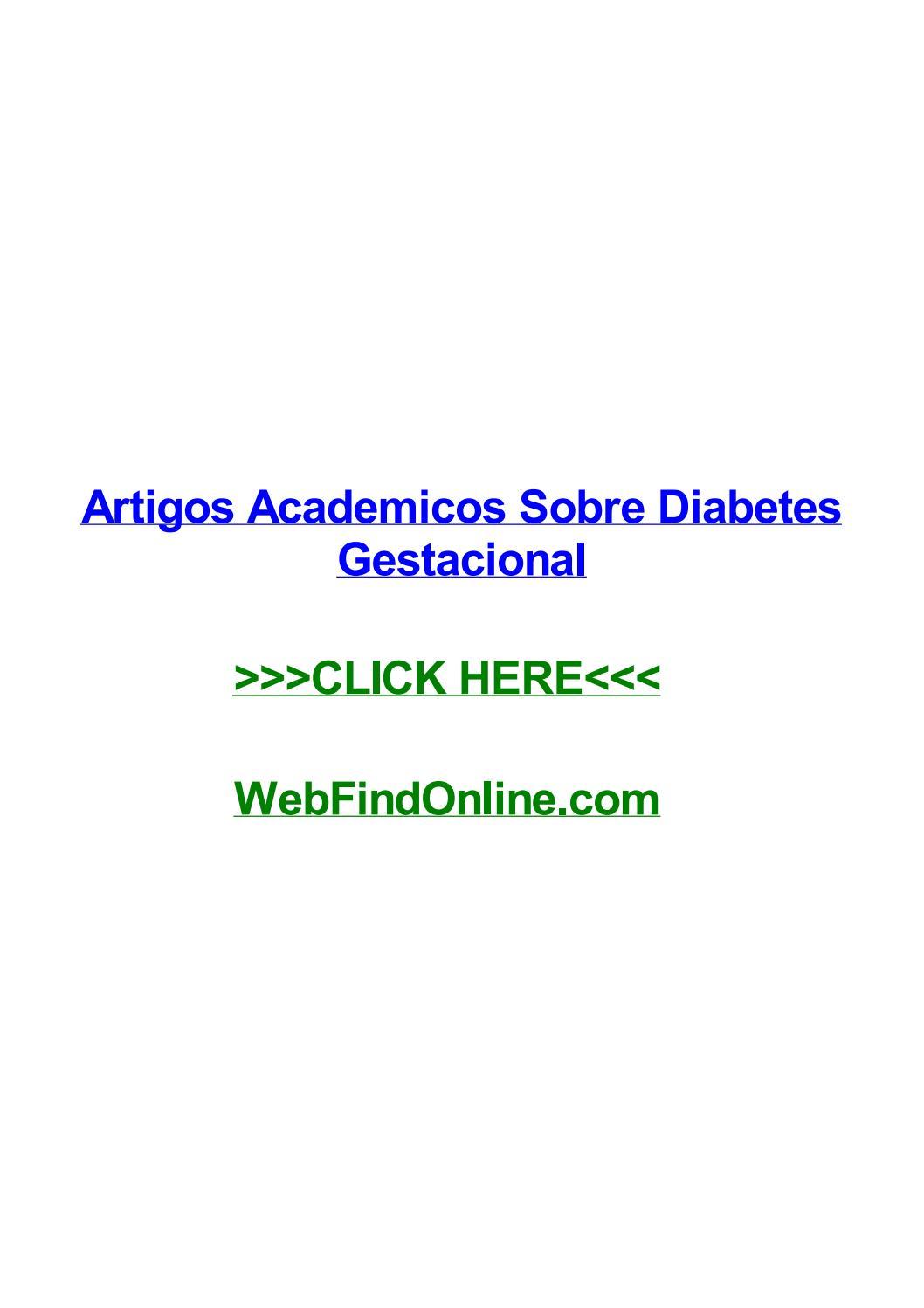 artigos academicos diabetes gestacional