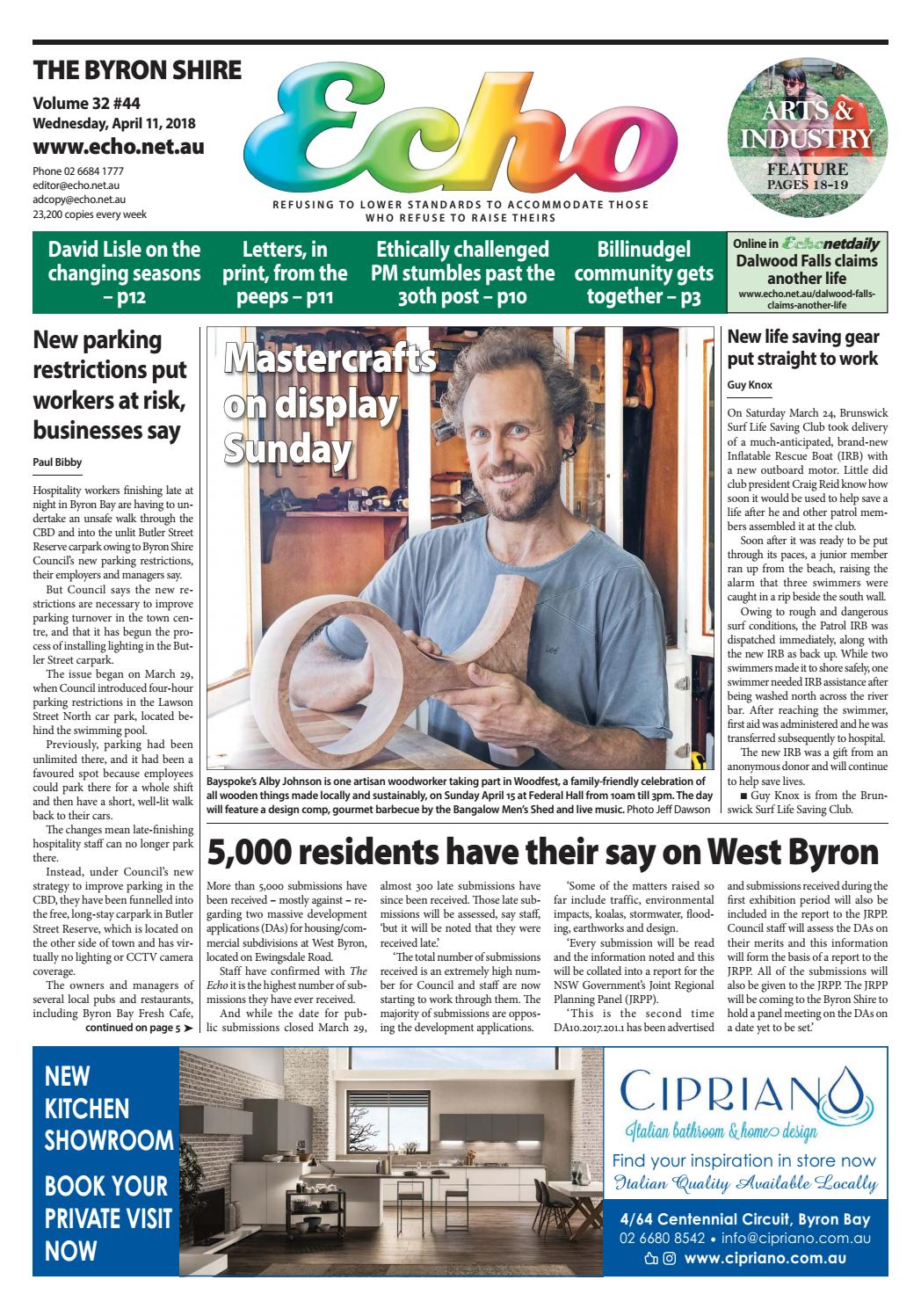 The Byron Shire Echo – Issue 32.44 – April 11, 2018 by Echo ...
