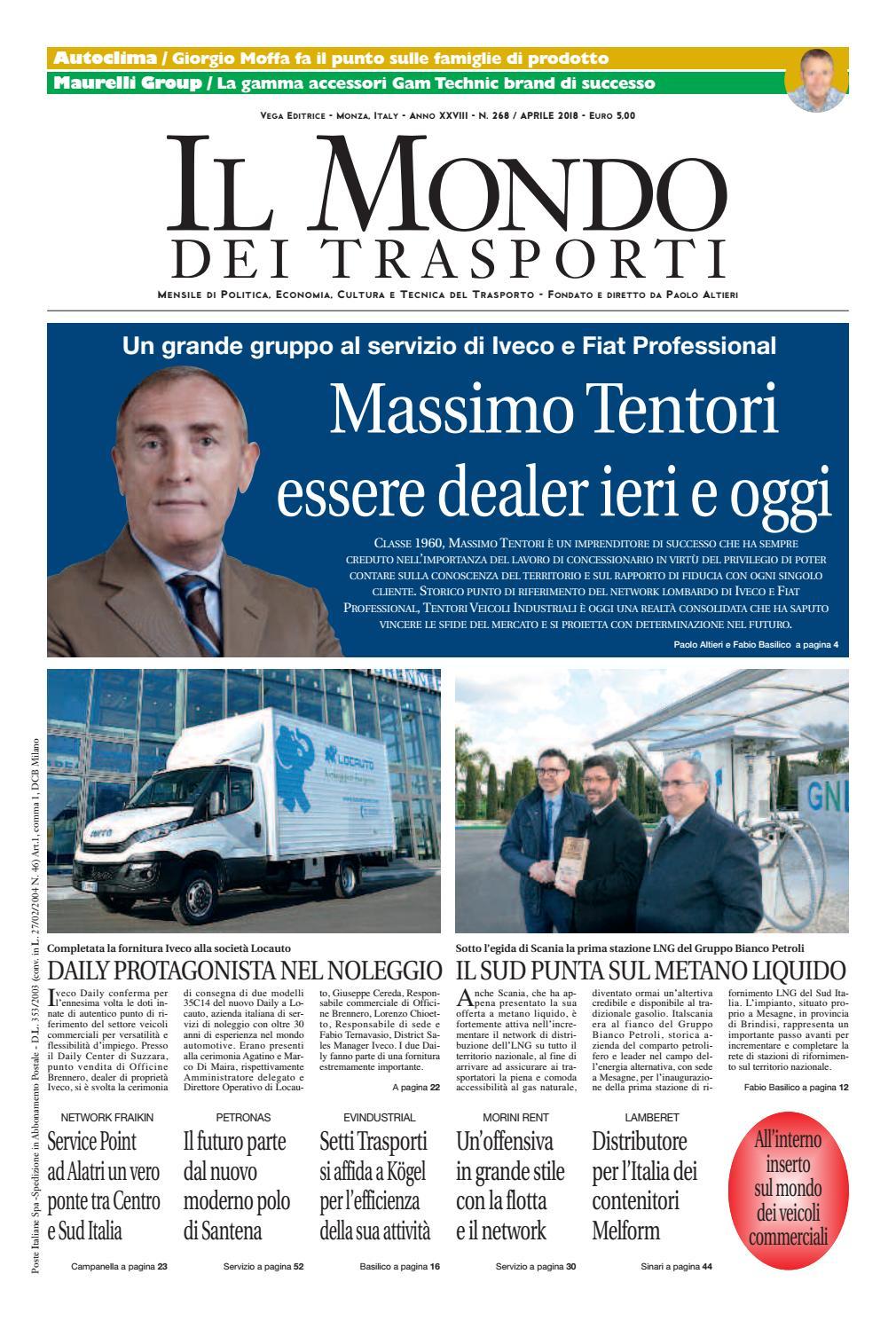 Il Mondo dei Trasporti - Aprile 2018 by Vega Editrice - issuu 9b118f15196