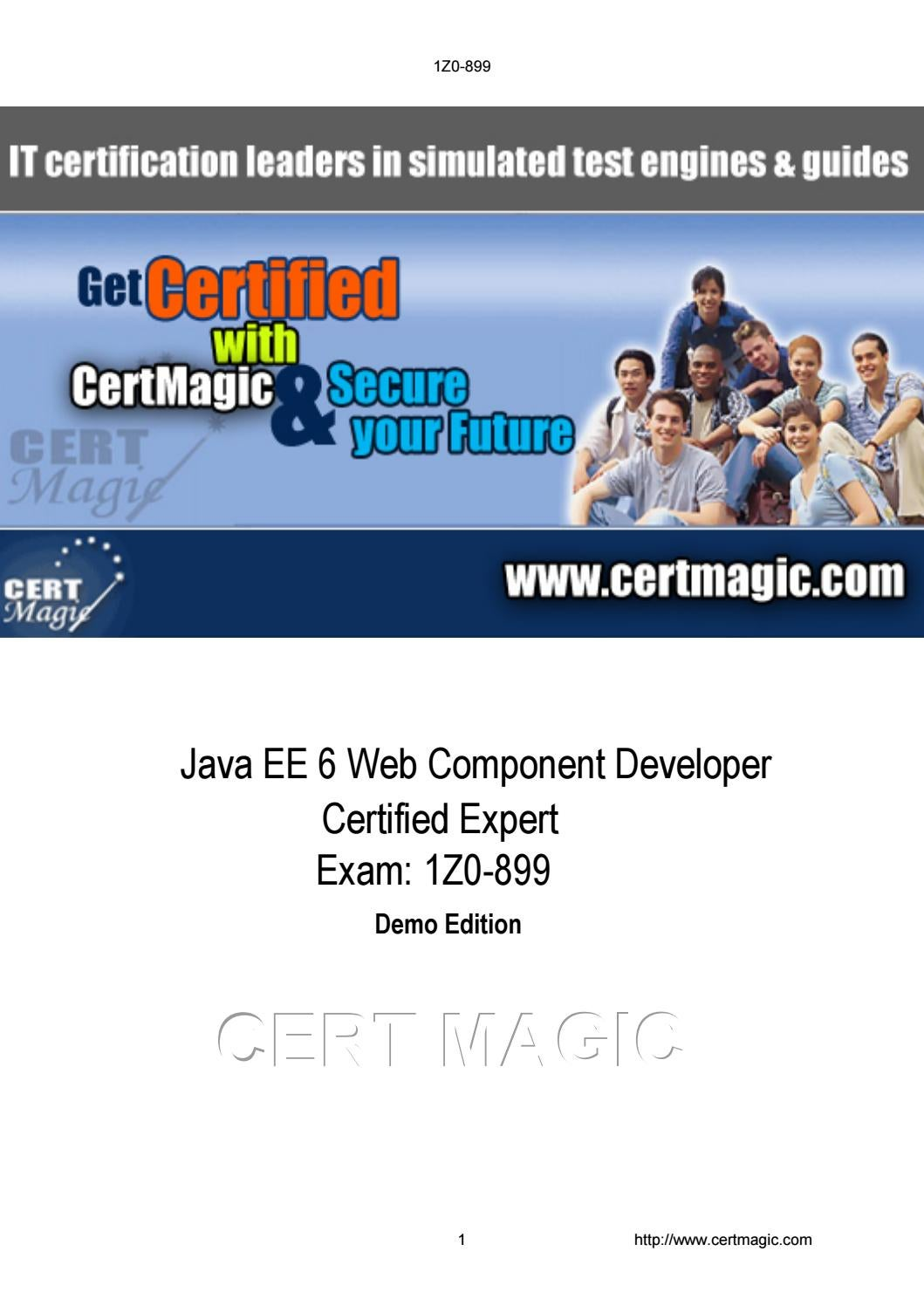 Exam 1Z0-899 Java EE 6 Web Component Developer Certified Expert Exam by  olivia jayden - issuu
