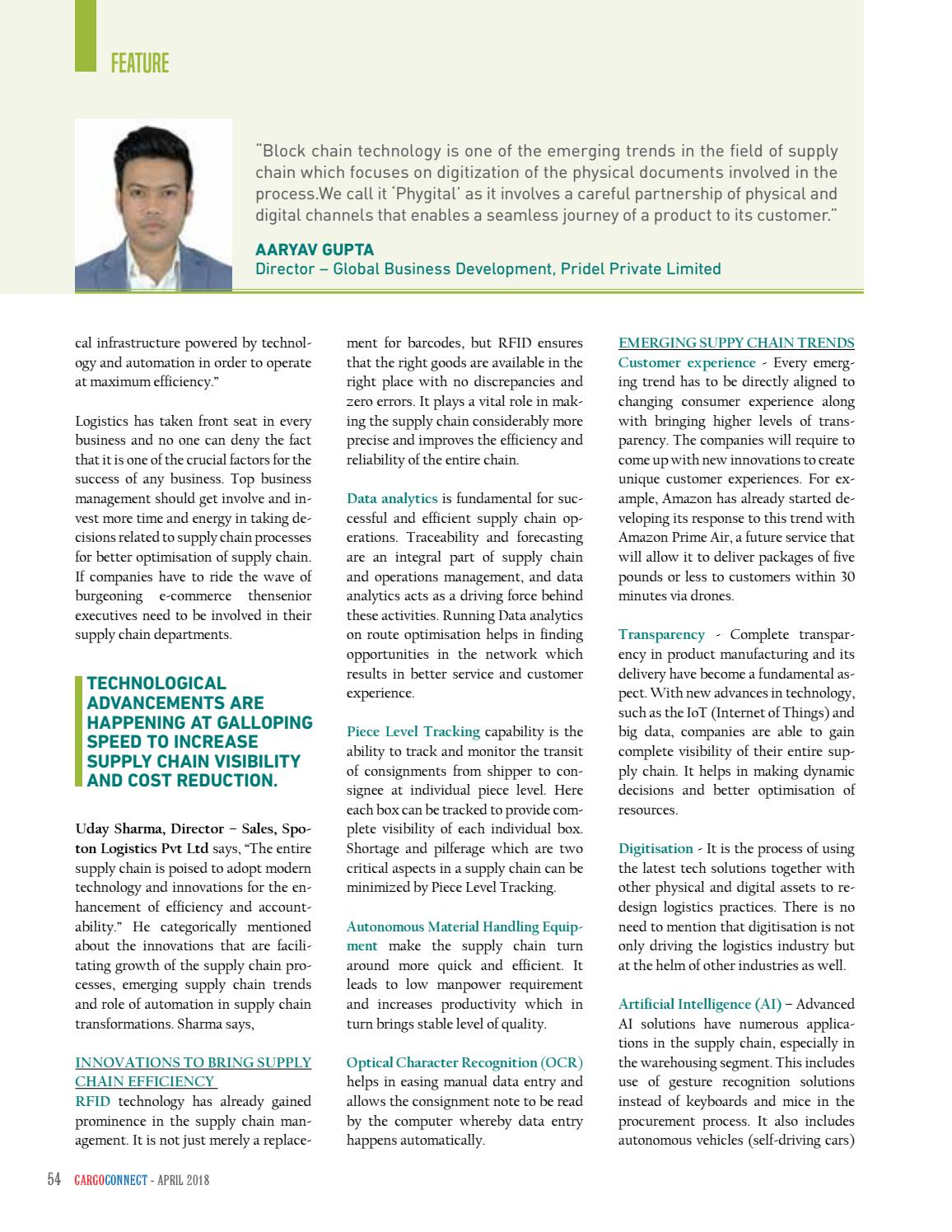 CARGOCONNECT April 2018 by Surecom Media - issuu
