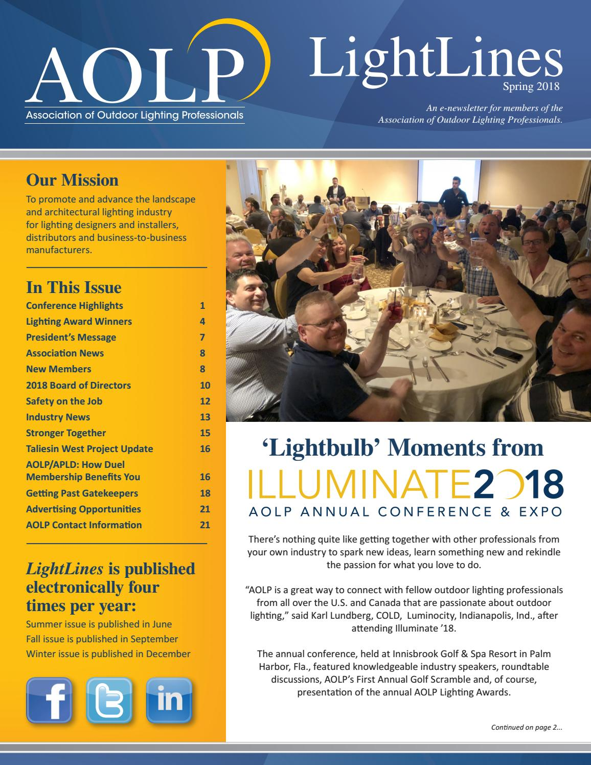Aolp Lightlines 2018 Spring Issue By Ociation Of Outdoor