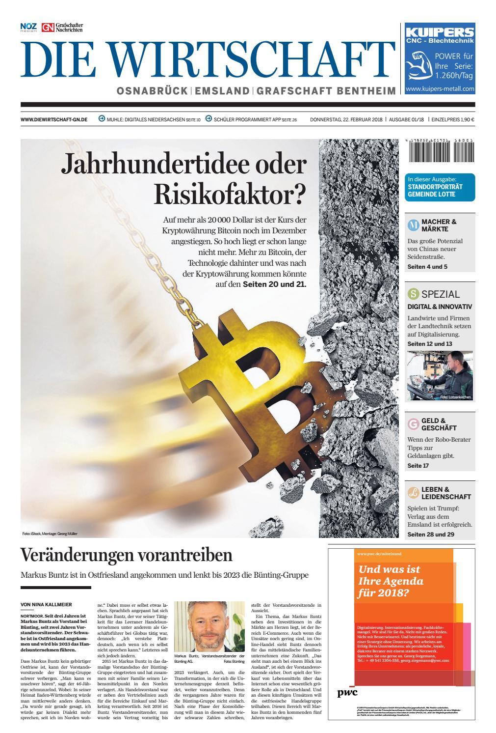 Die Wirtschaft Februar 2018 by Grafschafter Nachrichten - issuu