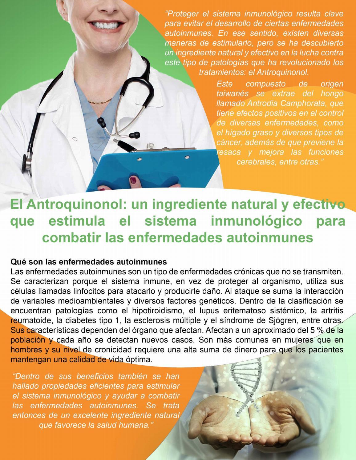 Estimula el sistema inmunologico