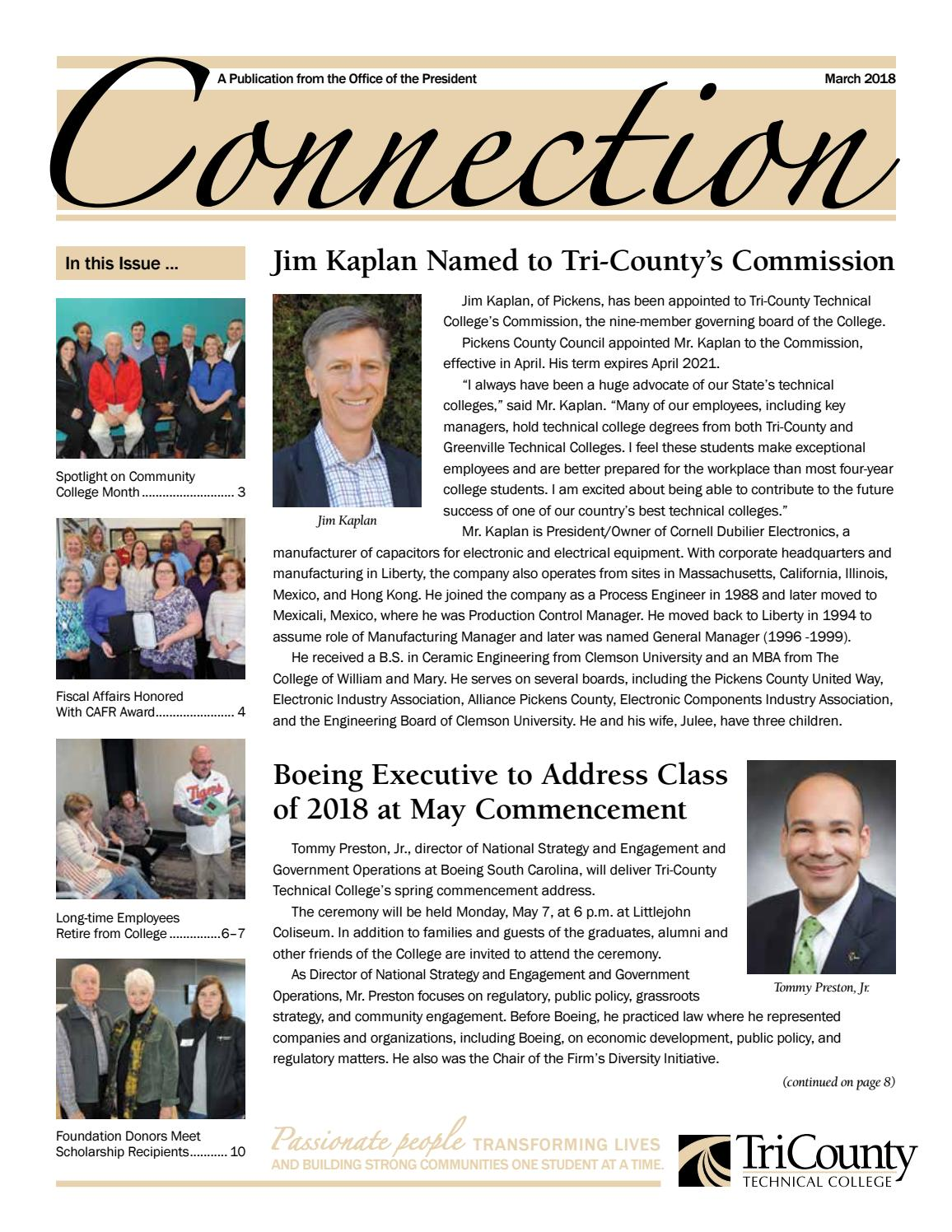 Connection March 2018 by Gayle Arries - issuu