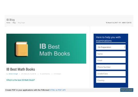 Best ib books on maths by jackthomas4555 - issuu
