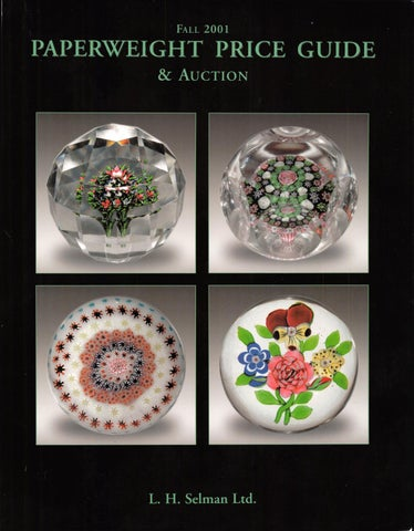 2116f43fbd9 L.H. Selman Ltd. s Fall 2001 Paperweight Price Guide   Auction