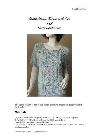 Knitted Blouse Pattern Imknitting By Im Knitting Issuu