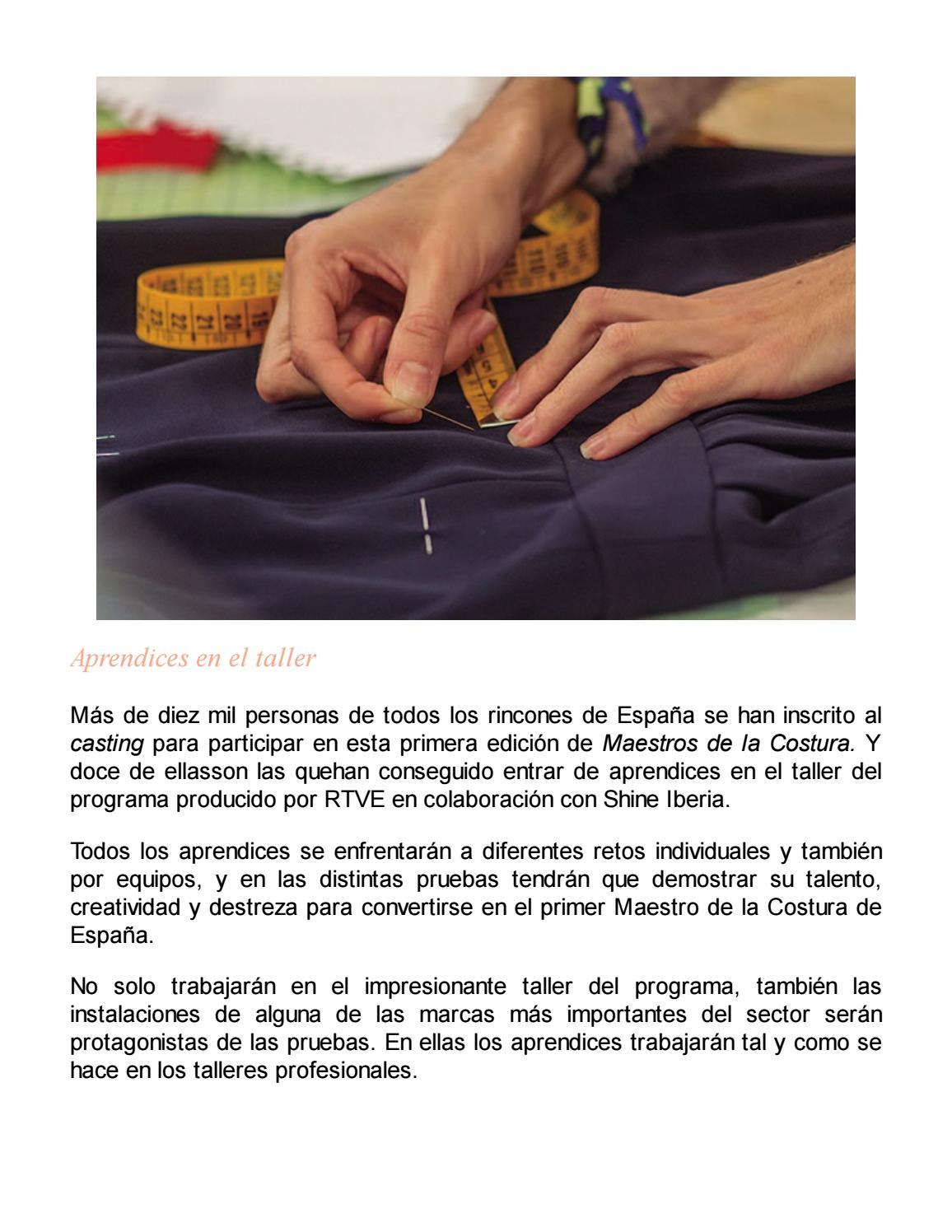 Maestros de la costura (temas de hoy) by Liz Azabal Iglesias - issuu