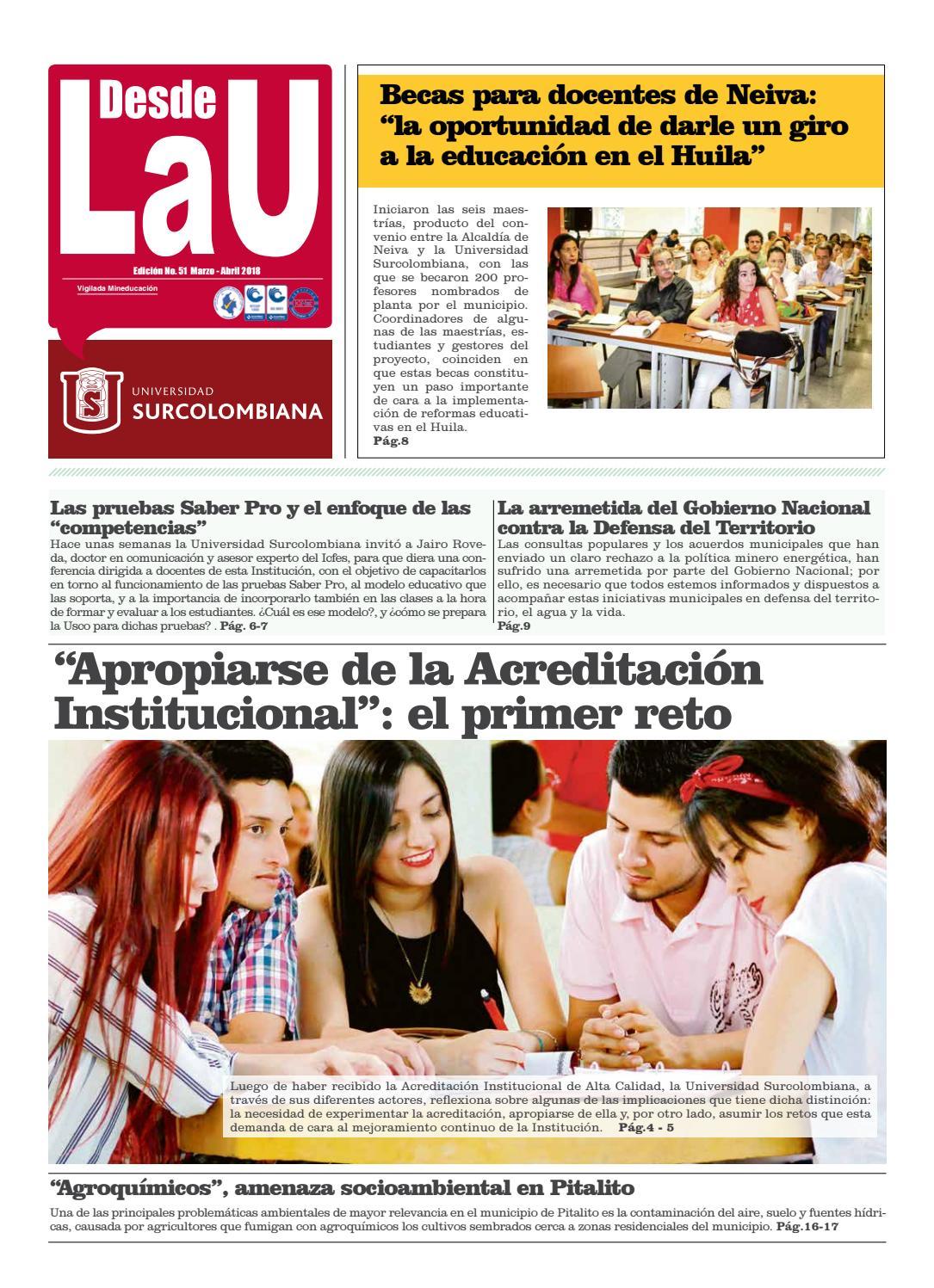 Desde La U (Edición 51) by Desde La U - issuu