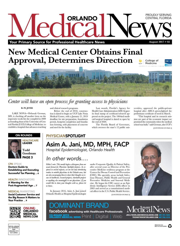 August 2017 Orlando Medical News by Orlando Medical News - issuu
