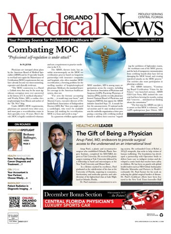 November 2017 Orlando Medical News by Orlando Medical News - issuu