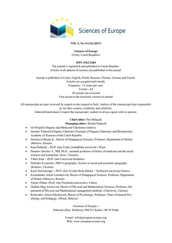 deed55a0 Vol 3 no 14 14 2017 by Sciences of Europe - issuu