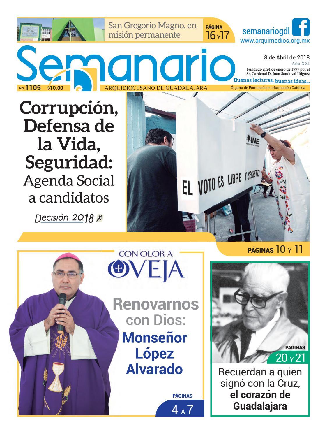 64bf771dc38 Semanario 1105 by Semanario Arquidiocesano de Guadalajara - issuu