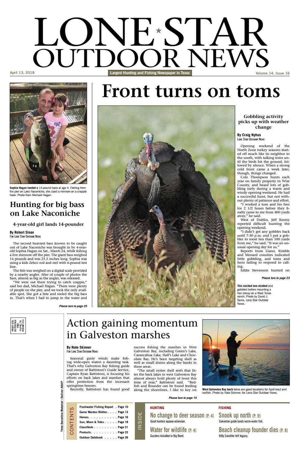 April 12, 2018 - Lone Star Outdoor News - Fishing & Hunting