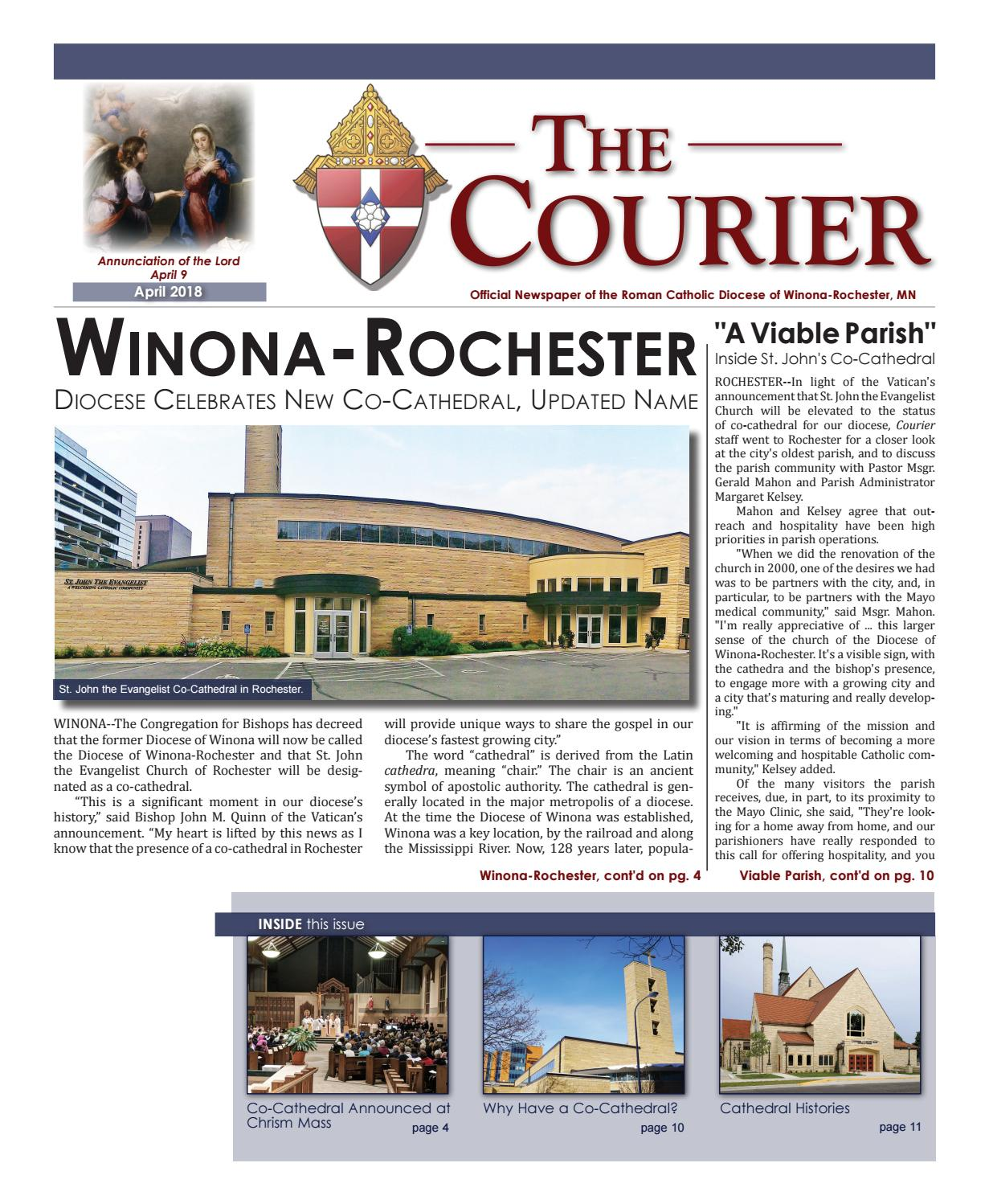 The Courier - April 2018 by Diocese of Winona-Rochester - issuu
