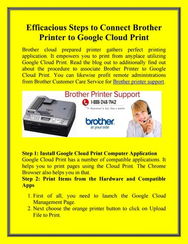 Efficacious steps to connect brother printer to google cloud
