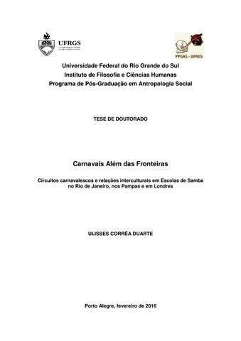 Universidade Federal do Rio Grande do Sul Instituto de Filosofia e Ciências  Humanas Programa de Pós-Graduação em Antropologia Social 521903c173