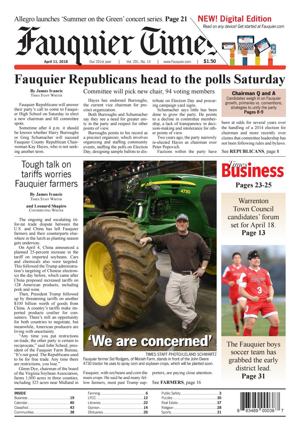 Fauquier Times April 11 2018 By Issuu 2810 Ford Tractor Wiring Diagram Series
