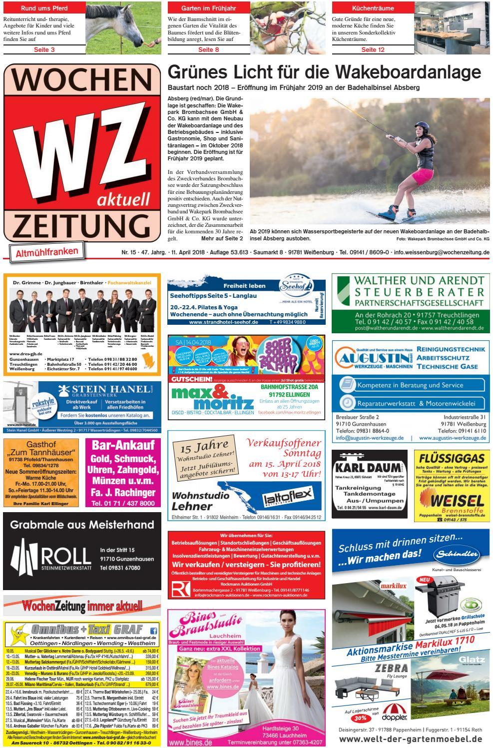 Wochenzeitung Weissenburg Kw 15 18 By Wochenzeitung Sonntagszeitung
