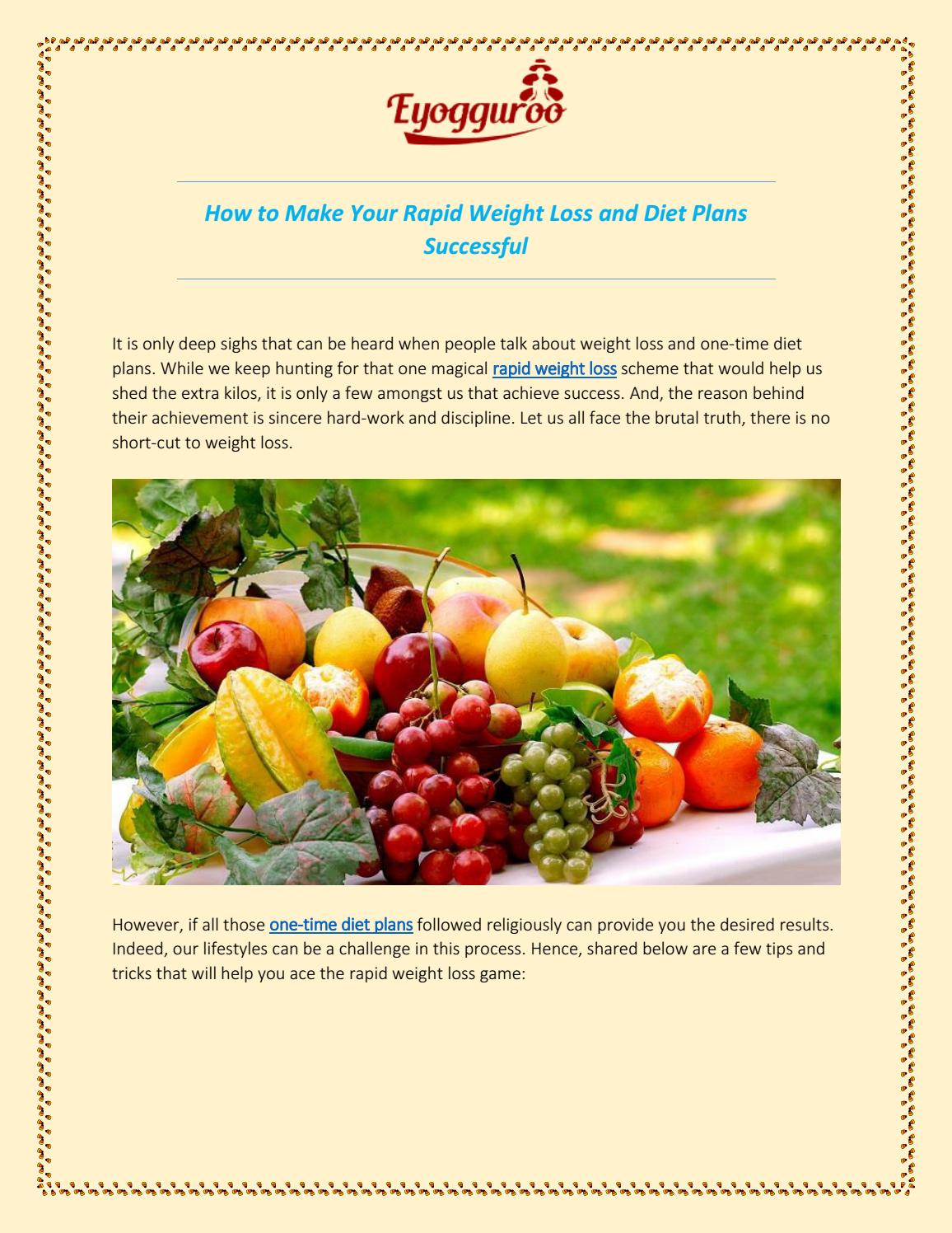 how to make a successful diet plan