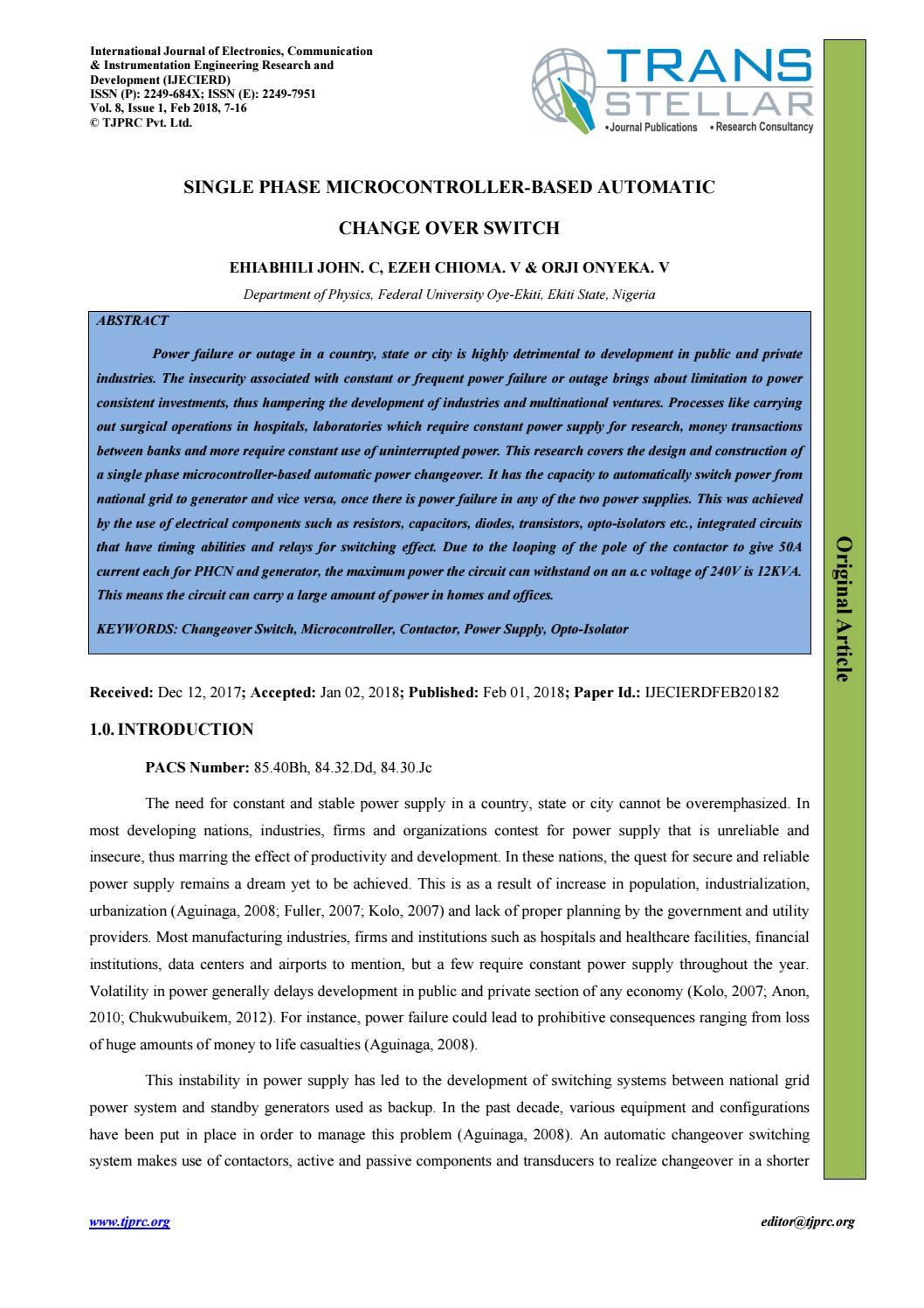 2 Ijecierdfeb20182 By Transtellar Publications Issuu Optoisolator For Volume Control