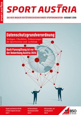 Sport Austria Magazin 012018 By Bundes Sportorganisation Issuu