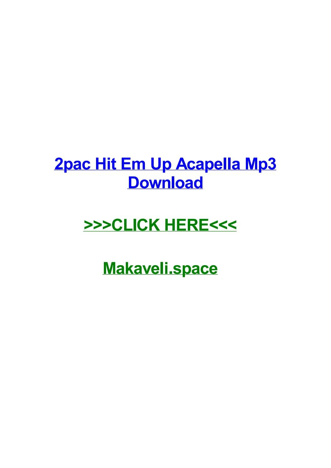 2pac hit em up acapella mp3 download by colekerc - issuu
