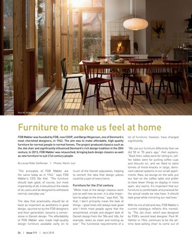 Scan Magazine | Design Profile | FDB Møbler