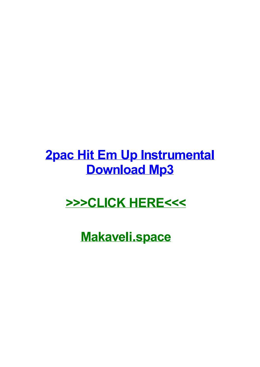2pac hit em up instrumental download mp3 by melissareet - issuu