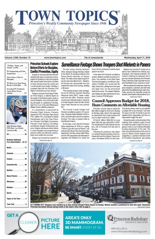 Town Topics Newspaper April 11 2018 By Witherspoon Media Group Issuu