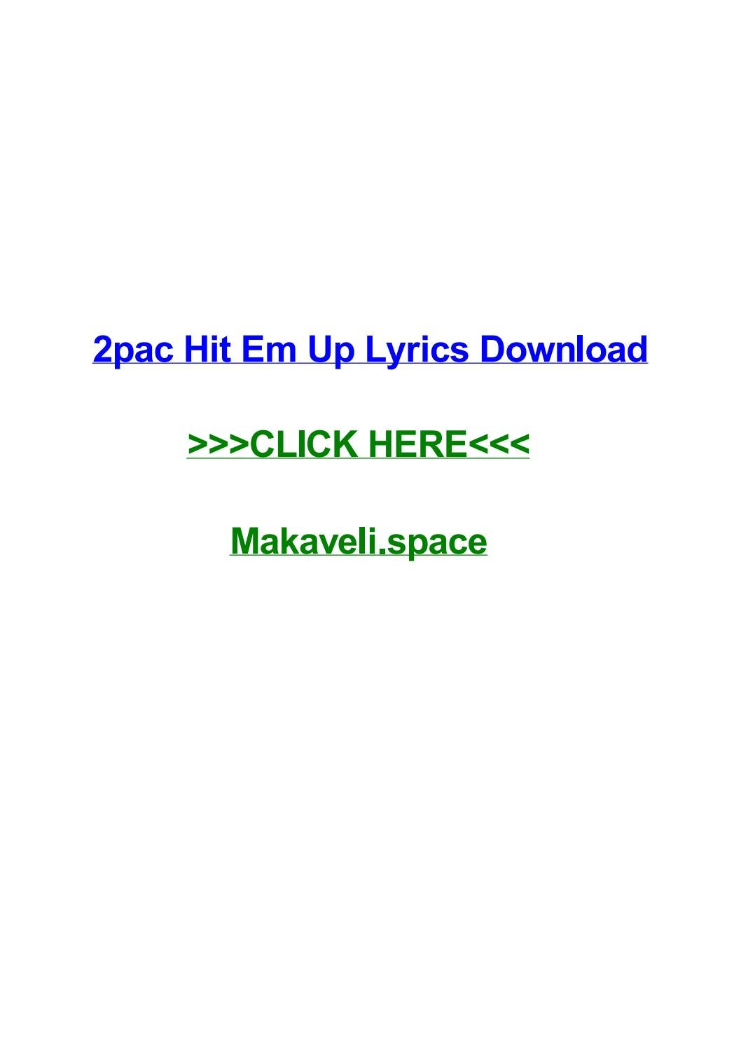2pac hit em up lyrics download by jennyhpsx - issuu