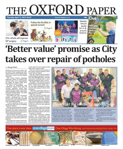12 April 2018 The Oxford Paper By Taylor Newspapers