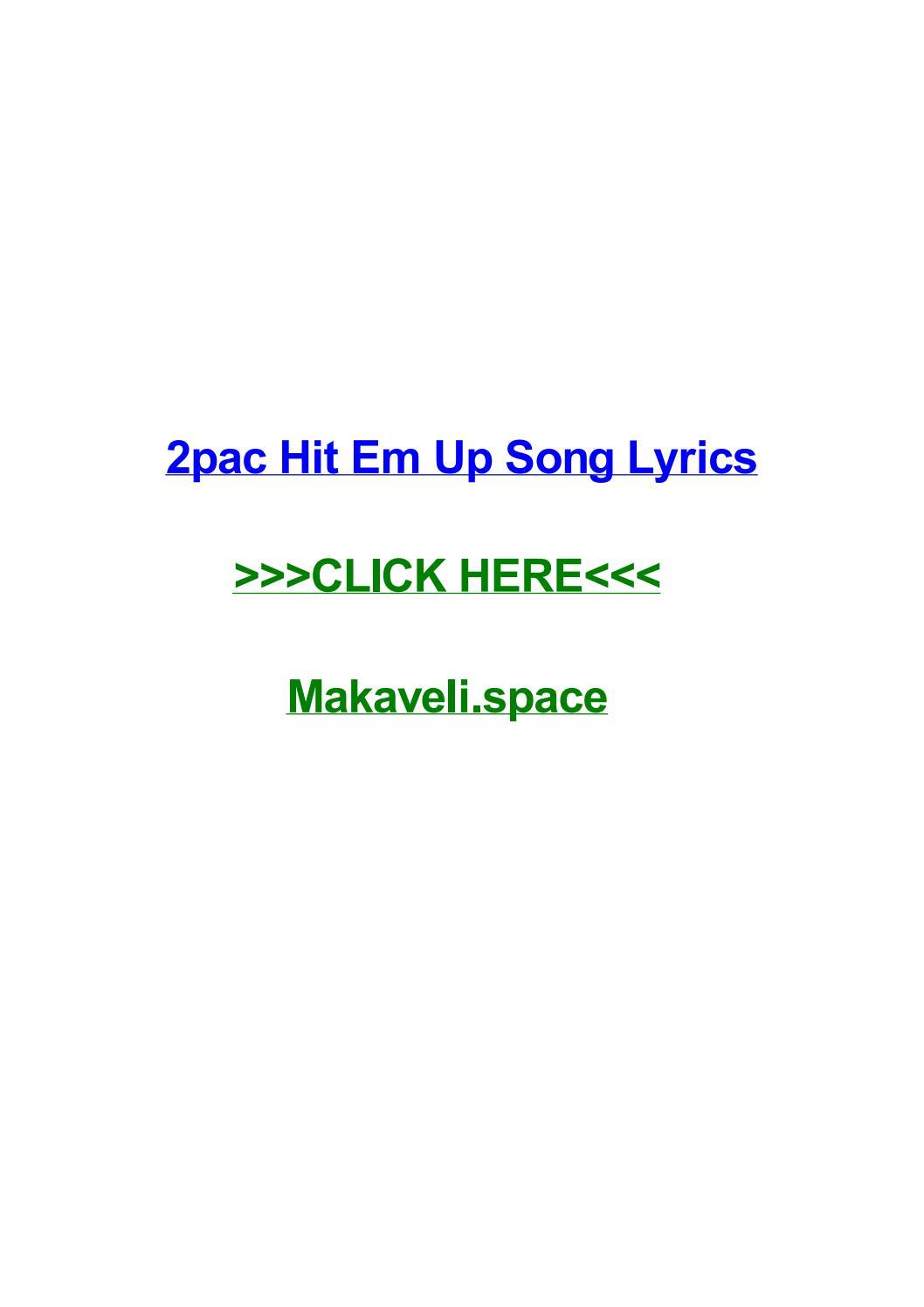 2pac hit em up song lyrics by bryancrejn - issuu