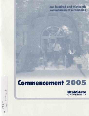 Utah State University Commencement 2005 By Usu Digital