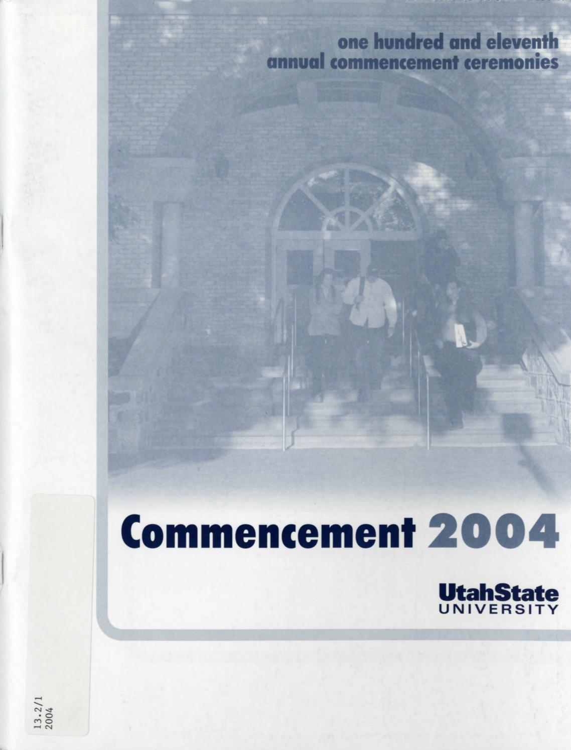 Utah State University Mencement 2004 By USU Digital Mons Issuu