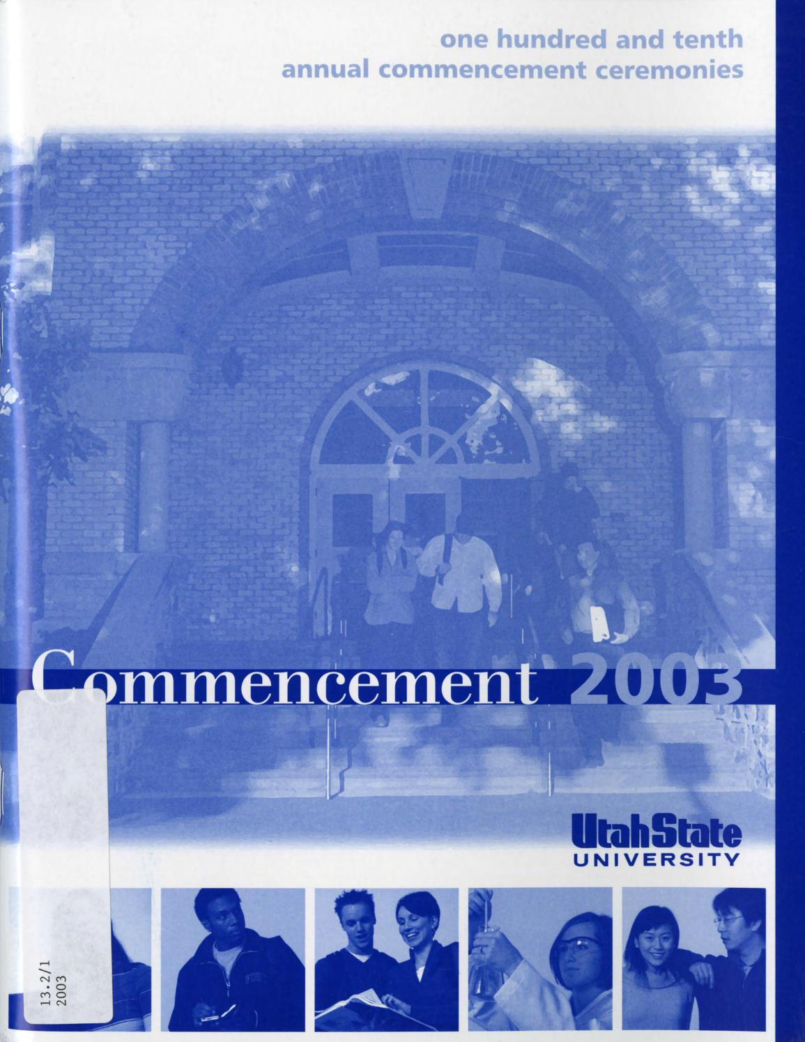 Utah State University Commencement, 2003 by USU Digital Commons - issuu