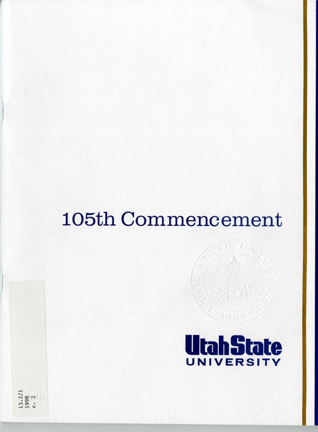 Utah State University Commencement 1998 by USU Digital Commons - issuu