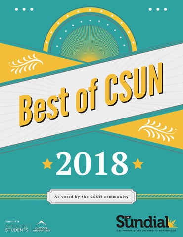 Best Of CSUN 2018 By The Sundial