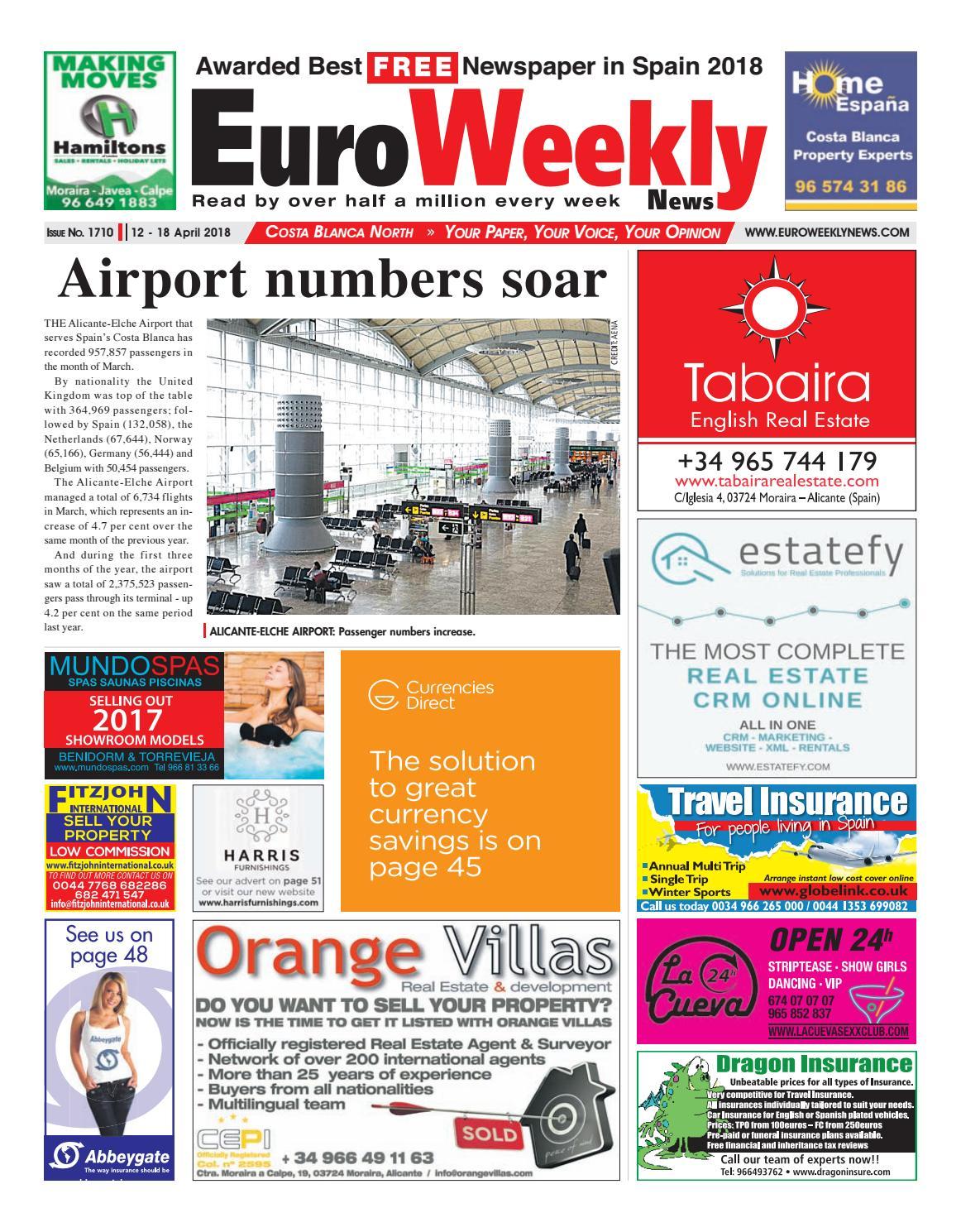 Euro Weekly News Costa Blanca North 12 18 April 2018