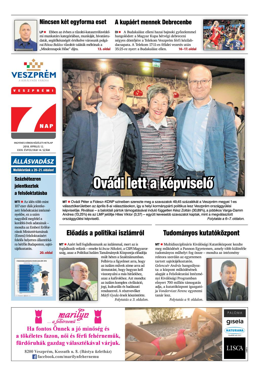 Veszprémi 7 Nap - 2018. 04. 12. by Maraton Lapcsoport Kft. - issuu 1fe1a1767f